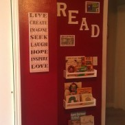 Reading Nook - the framed pictures are of our favorite childhood book covers!