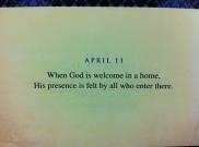 God is always welcome!